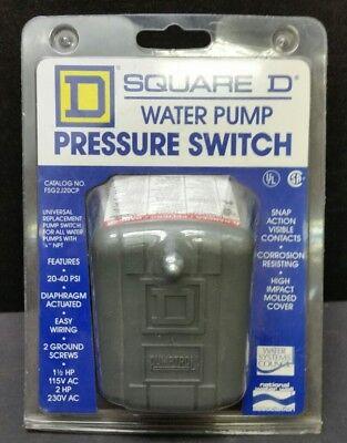 Square D Water Pump Pressure Switch Fsg2j20cp 30-50 Psi