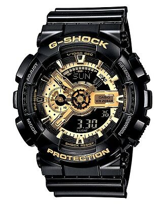 Casio G-Shock GA110GB-1A Limited Edition Men's Black Gold Resin Ana-Digi Watch