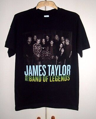 JAMES TAYLOR AND HIS BAND OF LEGENDS - 2008 TOUR OFFICIAL TOUR T-SHIRT - NEW