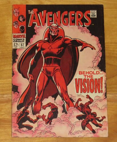 Key Marvel 1968 AVENGERS No. 57 FN 6.0 to FN+ 6.5 1st Appearance THE VISION