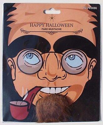 Brown Fake Beard Chin Strip Mustache Facial Hair Halloween Costume Accessory