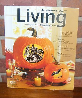 Martha Stewart Living Oct 2006 Halloween Clip Art Fall Menu Ghostly Images Pear