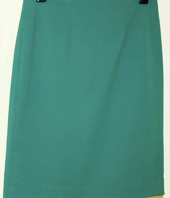 - Halogen Nordstrom Pencil Skirt 6 Teal Green Straight Stretch Womens