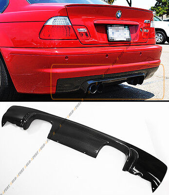 CSL STYLE 2-TONE CARBON FIBER REAR BUMPER DIFFUSER FOR 2002-06 BMW E46 M3 COUPE