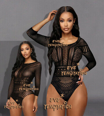 Sexy Fishnet Lingerie Baby doll Underwear Chemises Catsuit notte Intimo Chemise