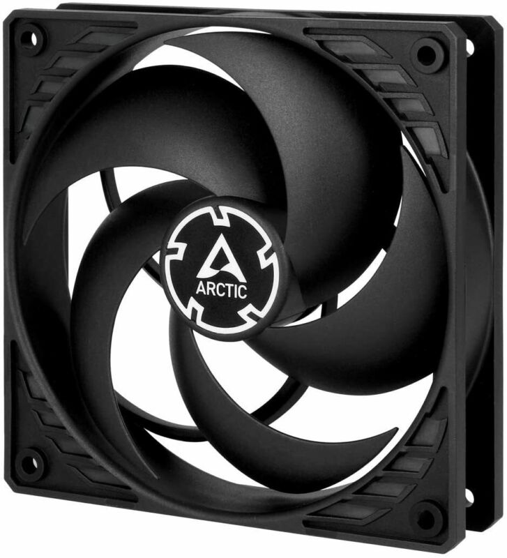 Arctic P12 PWM PST Pressure Optimized 120mm Fan with PWM, Black