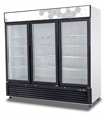Migali C-72fm Upright Reach In Three 3 Hinged Glass Door Freezer - Warranty
