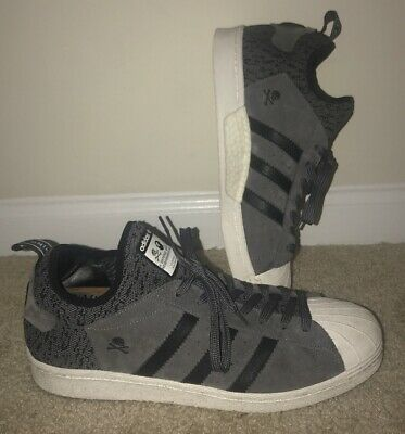 Authentic Rare Adidas Superstar NH BAPE A Bathing Ape Sneakers ~ Men's Size 11