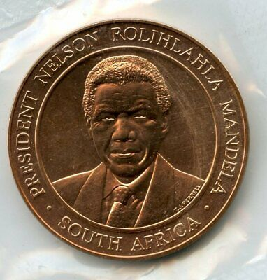 Nelson Mandela 1998 Medal President South Africa US Mint Sealed Bronze - BD908 for sale  Shipping to South Africa