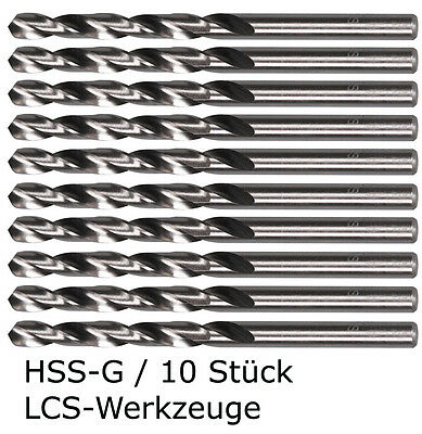 10 x HSS-G Spiralbohrer 0,2- 8,0mm  x 0,1mm Metallbohrer Bohrer geschliffen HSSG