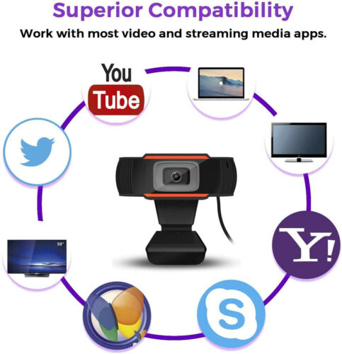 1080P HD Webcam With Microphone Auto Focusing Web Camera For PC Laptop Desktop Computers/Tablets & Networking
