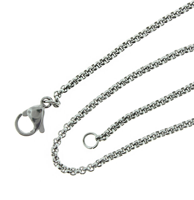 "Stainless Steel Rolo Chain Necklace 18"" - 2mm - 1 Necklace - N572"