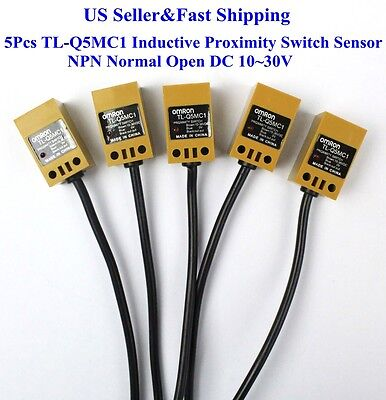 5pcs Tl-q5mc1 Inductive Proximity Switch Sensor Npn Normal Open Dc 1030v Us