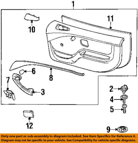 BMW 96 02 Z3 Interior Door Handle Left 51418398733