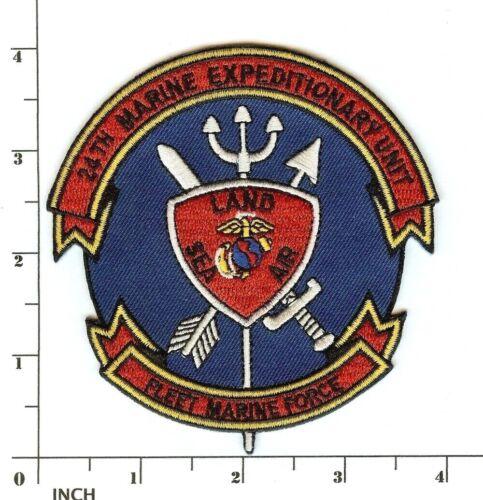USMC 24th Marine Expeditionary Unit FMF PATCH ! Marines ! 24th MEU Sea-Land-Air!