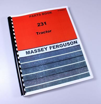 Massey Ferguson 231 Tractor Parts Catalog Manual Book Assembly Numbers