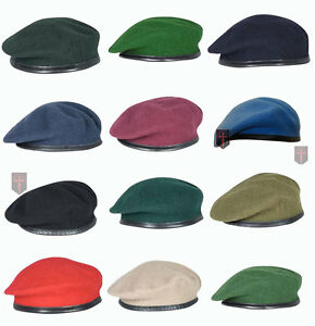 Large-Selection-High-Quality-British-Military-Berets-All-sizes-Officers-ORs