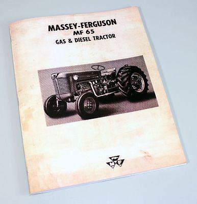 Massey Ferguson Mf-65 Tractor Owners Operators Manual Maintenance Gas Diesel