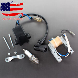 CDI Magneto for Motorized 49cc 66cc 80cc Engine Bicycle Ignition Coil Spark Plug