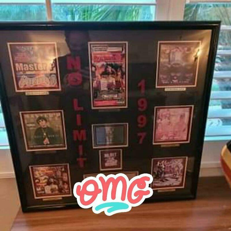 Master P No Limit Records 1997 8x Platinum RIAA Plaque RARE!!!!