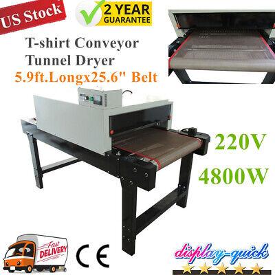Us 220v Screen Printing Conveyor Tunnel Dryer 5.9ft.long X 25.6 Belt T-shirt