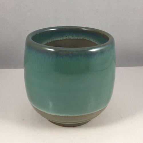 "Japanese Sushi Tea Cup Yunomi 3-1/8""H Porcelain ""Round Jade"" Made in Japan"