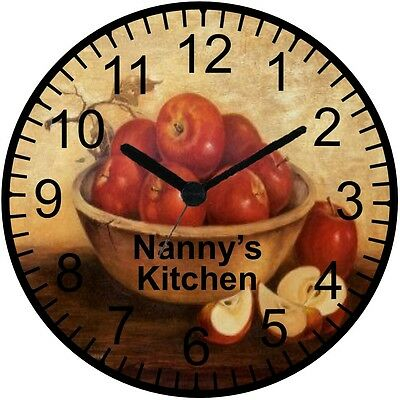 """9"""" Personalized Apple Wall Clock"""
