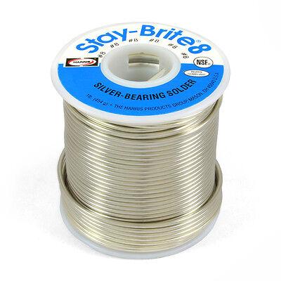 Harris Stay-brite 8 Silver Bearing Solder 116 1 Lb Pound Spool Sb831