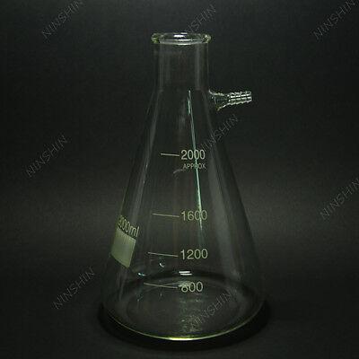2000ML Filter Flask,Filtering Flask(used on filtration set),lab glass