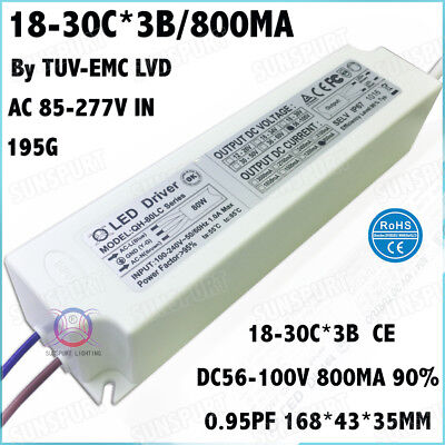 2pcs Ac85-277v 80w By Ce Led Driver 18-30x3 800ma Dc56-100v Constant Current 90
