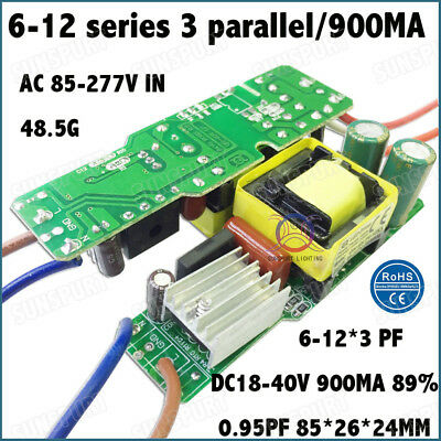 5 Pieces Ac85-277v 40w Pf0.95 Led Driver 6-12x3 900ma Dc18-40v Constant Current