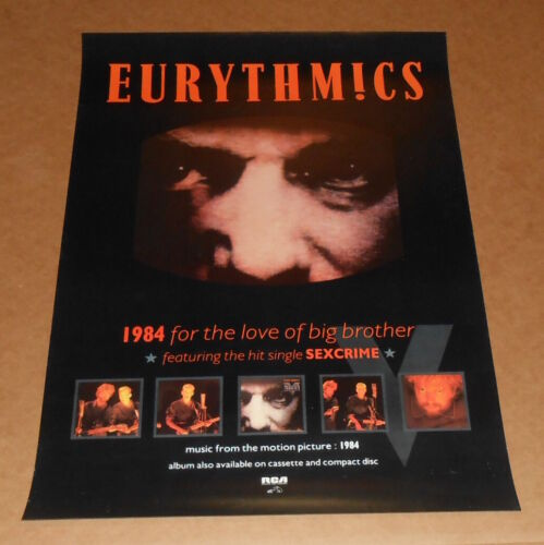 Eurythmics 1984 For the Love of Big Brother Promo Movie Soundtrack Poster Orwell
