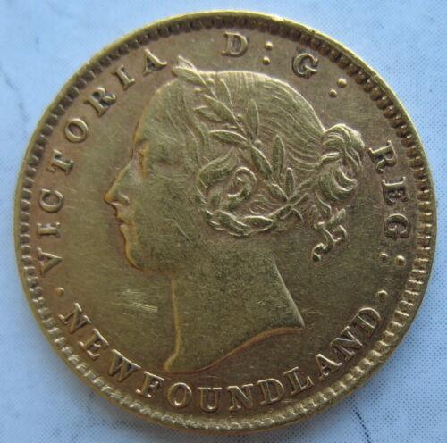 1882-H NEWFOUNDLAND Gold 2 Dollars