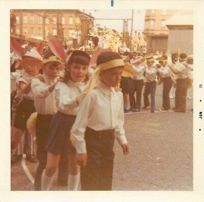 Bunny Hop Line Dance (LITTLE GIRLS & BOYS DO BUNNY HOP LINE DANCE CUTE EARS DOWNTOWN VTG 1970s)