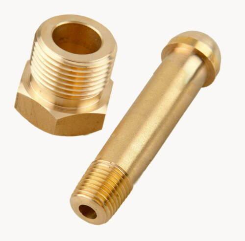 "CGA-580 Nut & 3 x 1/4"" NPT Nipple, Argon CO2, Nitrogen, Helium Regulator Inlet"