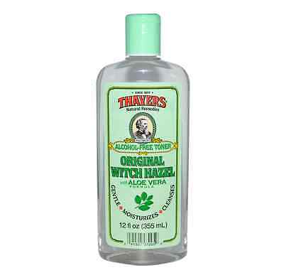 Thayers Witch Hazel with Aloe Vera, Alcohol Free, Original 12 oz (Pack of 9)