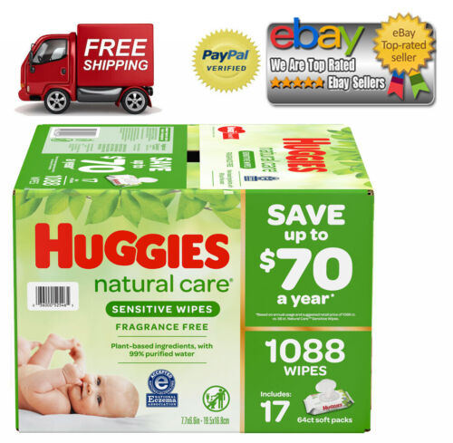 Huggies Natural Care Baby Wipe Refill, Fragrance Free (1,088 ct.) *BEST DEALS*