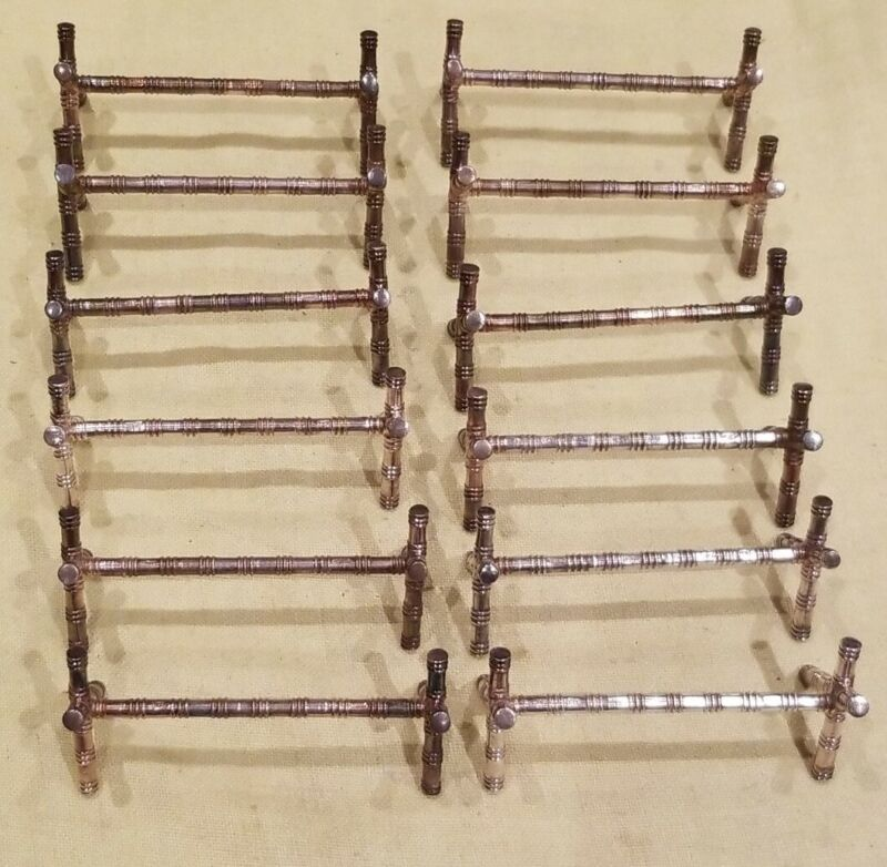 Antique French SFAM Silver Plate Knife Rests, 9 gr Pattern, 12 pcs Free Shipping