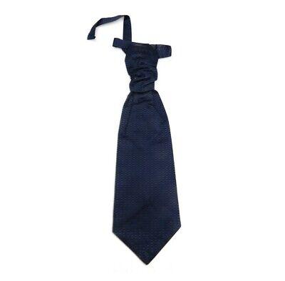Cravatta blu nera grigia uomo cerimonia cravattone di seta plastron da sposo