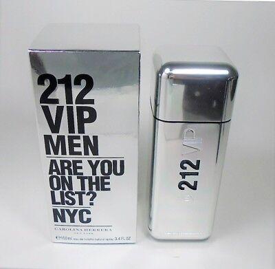 212 VIP by Carolina Herrera EDT for Men 3.4 oz / 100 ml NEW IN BOX
