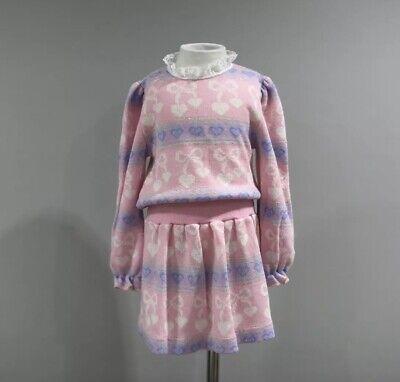 Vintage Girls Dress Size 4T Long Sleeve Kawaii 80s