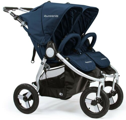 Bumbleride Indie Twin All Terrain Twin Baby Double Stroller Maritime Blue 2018