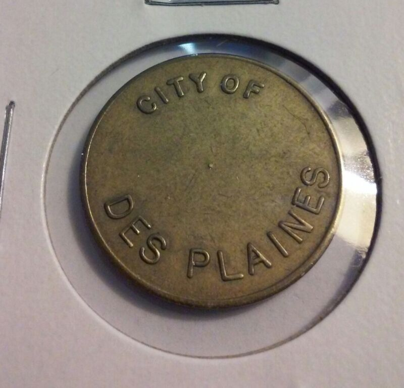 City of Des Plaines (Illinois) Parking Meter Token - (#IN2459)