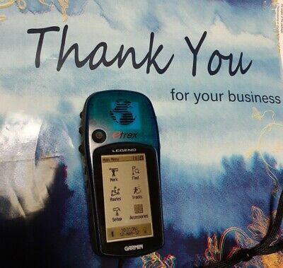WORKING! Garmin eTrex Legend Handheld Personal GPS Unit - Blue