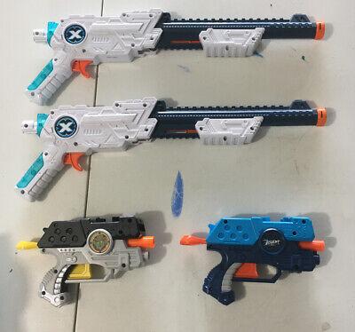 Lot Of 4 Nerf Guns Stats Blast X Blaster Zombie Cowboy Gun