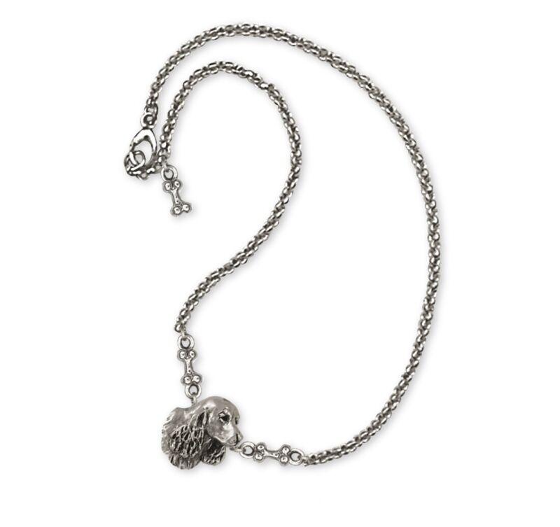 Springer Spaniel Ankle Bracelet Jewelry Sterling Silver Handmade Dog Ankle Brace