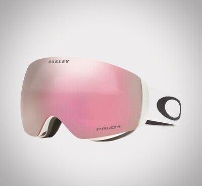 Women's Oakley Flight Deck XM Snowboard & Ski Goggle, White / Prizm Snow Hi Pink
