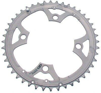 Shimano 44T Mega 9 Speed Chainring Deore FC-M510 Silver Y1DS98020 104mm BCD