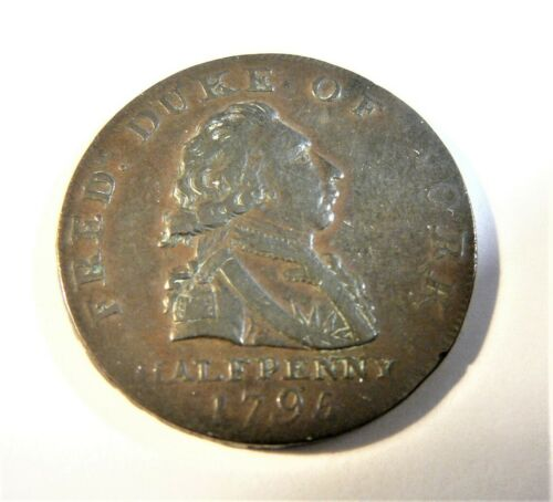 Great Britain 1795 Middlesex DUKE OF YORK Half Penny Conder Token SB1