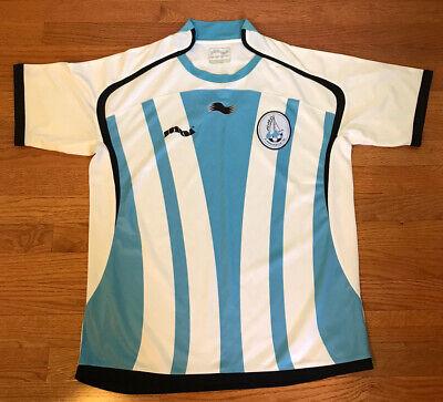 Al-Wakrah Sport Club 2009/10 Burrda Football Shirt QATAR Away LARGE L blue white image